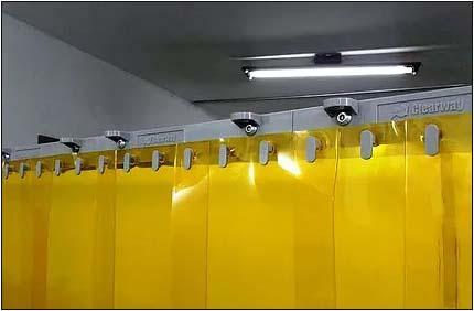 Cortina pvc refrigeração